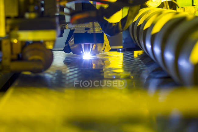 Close up of Welding machine in industrial plant — Stock Photo