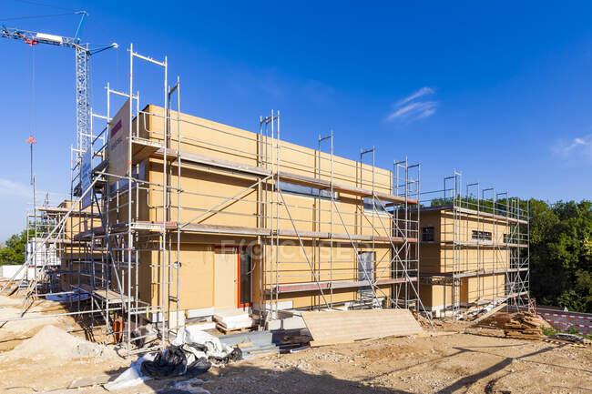 Германия, Эссекс-Целль, место строительства зданий с нулевой энергией — стоковое фото