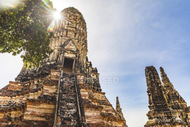 Thailand, Ayutthaya, ruins Wat Chaiwatthanaram Temple in the historical city of Ayutthaya — Stock Photo