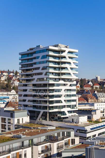 Allemagne, Stuttgart, tour résidentielle Cloud No. 7. — Photo de stock