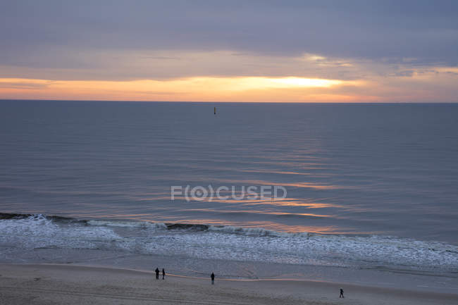Germany, Schleswig-Holstein, North Frisia, Westerland, Sylt, beach at sunset — Stock Photo