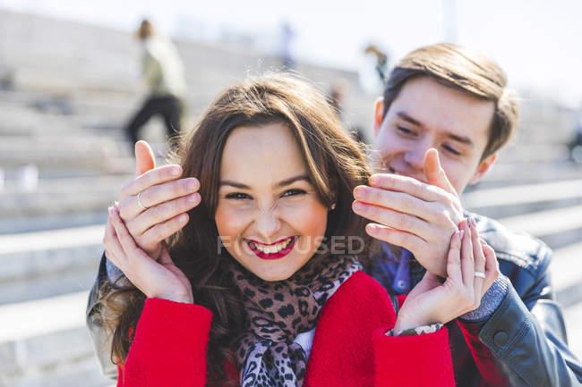 Russland, moskau, couple dating and having fun — Stockfoto