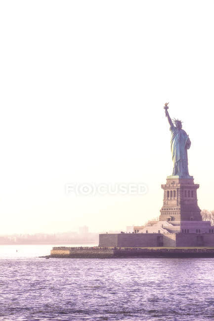 USA, New York City, Statue of Liberty on Liberty Island — Stock Photo