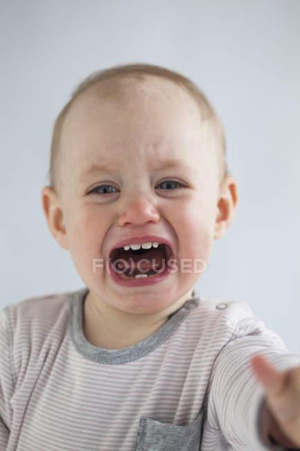 Ritratto di urlare bambina — Foto stock