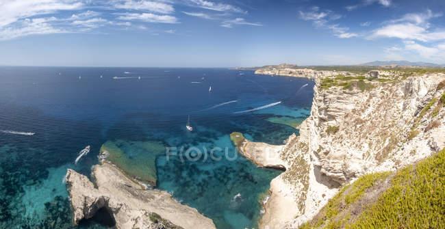 Korsika, Luftaufnahme der Mittelmeerküste — Stockfoto