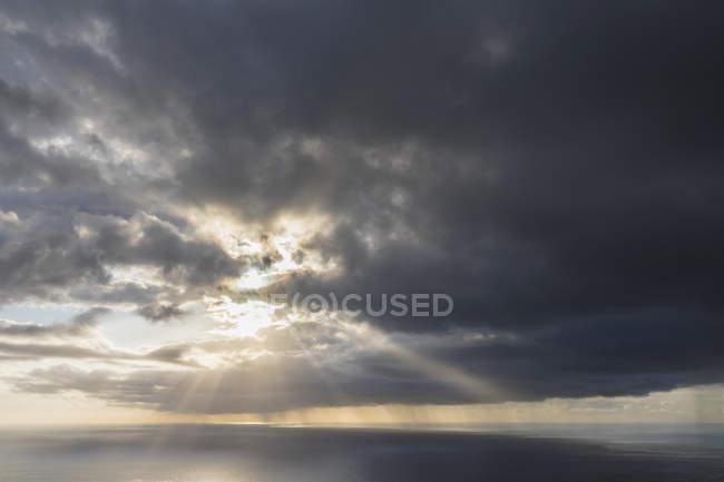 Reunion, West Coast, Saint-Leu, Sunset over sea — Stock Photo