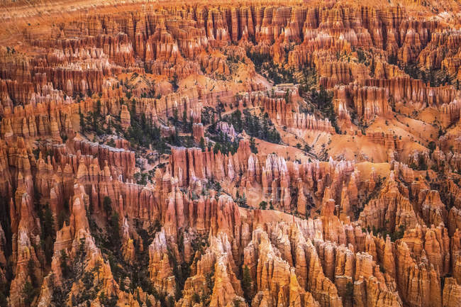 USA, Utah, rock formations at Bryce Canyon National Park — Stock Photo
