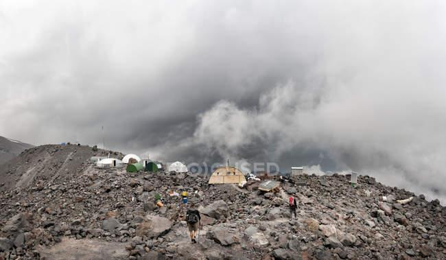 Russia, Upper Baksan Valley, Caucasus, Mount Elbrus North Camp — стокове фото