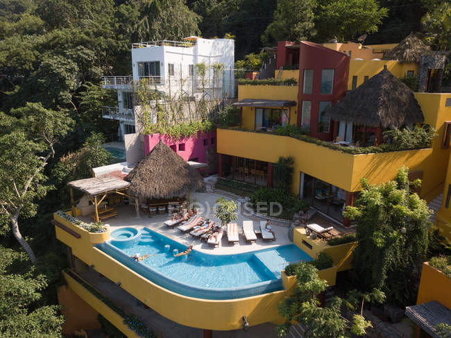 Мексика, Jalisco, Mismaloya рядом с Puerto Vallarta, Luxury vacation villa — стоковое фото