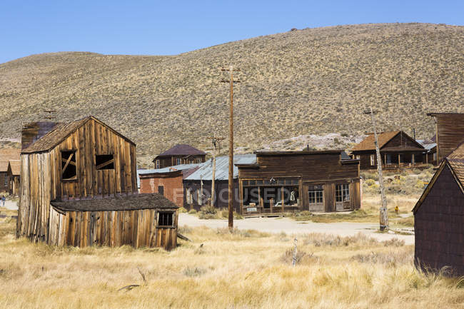 USA, California, Sierra Nevada, Bodie State Historic Park, gold mining town — Stock Photo