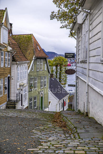 Norvegia, Hordaland, Bergen, Centro storico, Gamle Bergen — Foto stock