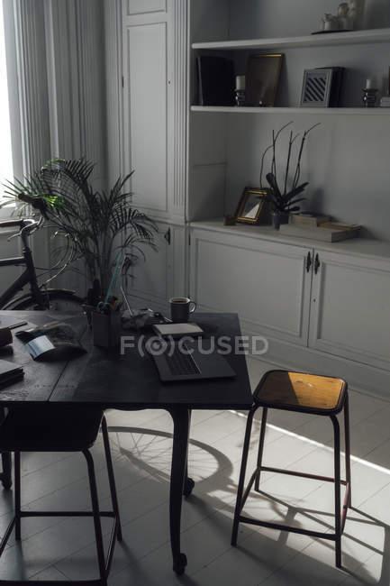 Modern work-space in flat — Stock Photo