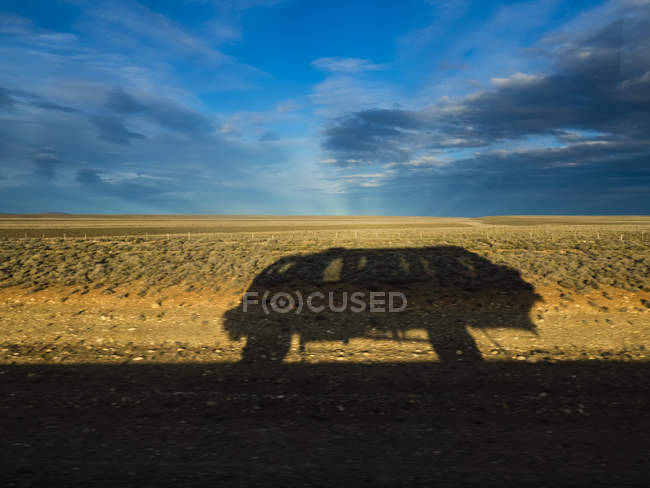 Cile, Patagonia, Ombra della jeep — Foto stock
