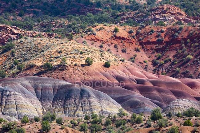 États-Unis, Arizona, montagnes multicolores — Photo de stock