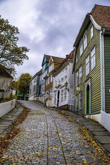 Norway, Hordaland, Bergen, Historic old town, Gamle Bergen — Foto stock