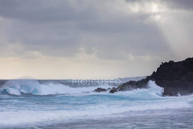 Riunione, Costa occidentale, Grand Anse, Oceano Indiano — Foto stock
