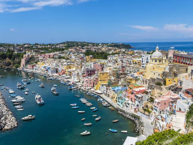 Italy, Campania, Gulf of Naples, Phlegraean Islands, Procida Island, Harbour, Marina di Corricella — Stock Photo