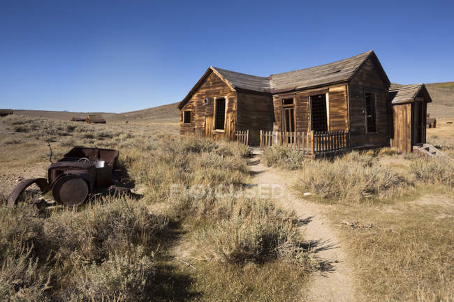 USA, California, Sierra Nevada, Bodie State Historic Park, old wooden house — Stock Photo