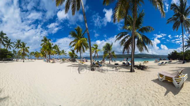 Repubblica Dominicana, Samana, Spiaggia Cayo Levantado — Foto stock