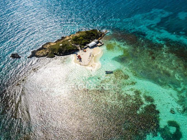 Indie Occidentali, Antigua e Barbuda, Antigua, Prickly Pear Island, spiaggia — Foto stock