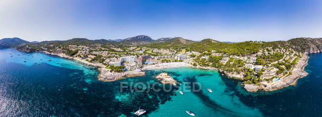 Spagna, Baleari, Maiorca, regione di Calvia, Costa de la Calma, vista aerea del Camp de Mar — Foto stock