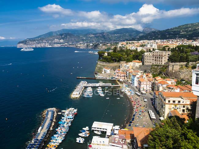 Italy, Campania, Amalfi Coast, Sorrent, Bleu Village, Marina Piccola — Stock Photo