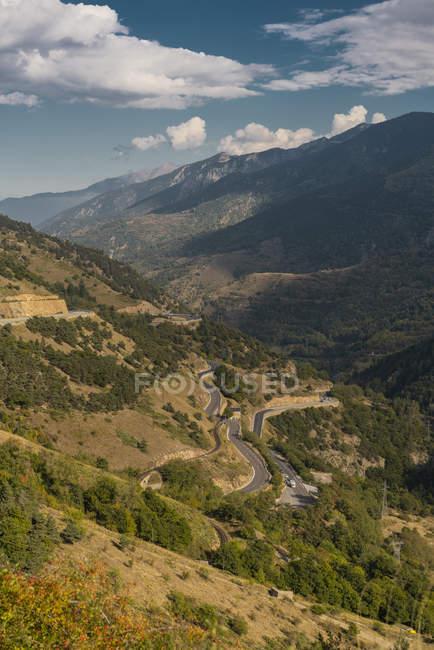 Французькі Піренеях, гірські дороги — стокове фото