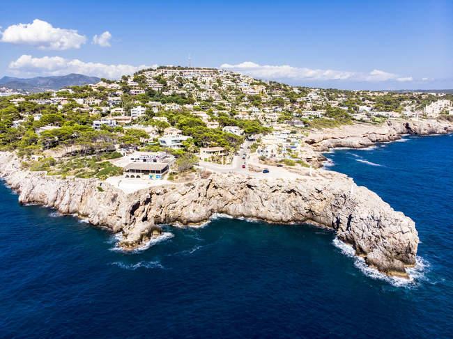 España, Baleares, Mallorca, Región Calvia, Vista aérea de Santa Ponca - foto de stock