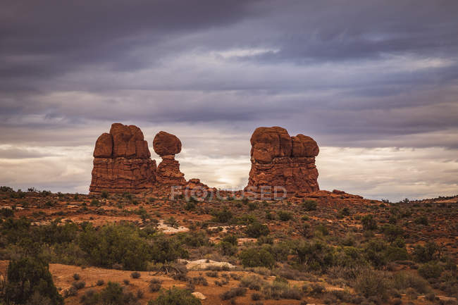 USA, Utah, Rock formations at Arches National Park — Stock Photo