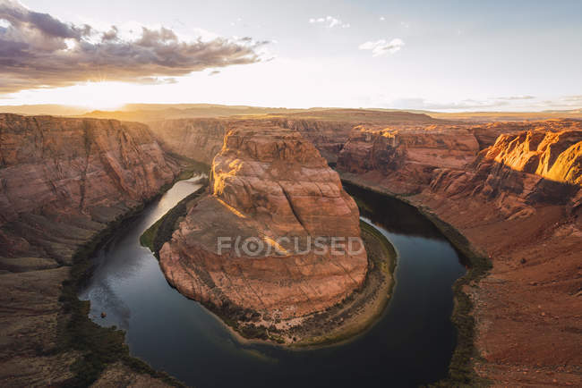 США, Arizona, Bendhorse shoe at sunse — стоковое фото