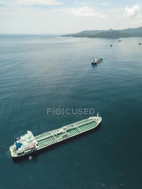 Indonesia, Bali, Veduta aerea della petroliera — Foto stock