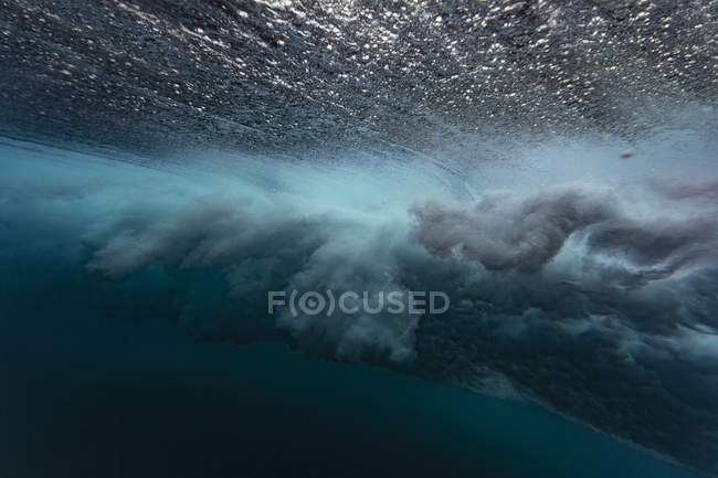Maledives, Under water view of wave, underwater shot — Stock Photo