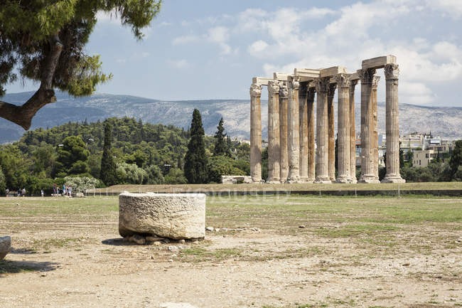 Greece, Athens, Olympeion, Temple of Zeus — Foto stock