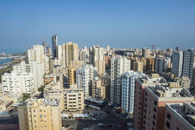 Arabia, Kuwait, Kuwait City, High-rise buildings — Stock Photo