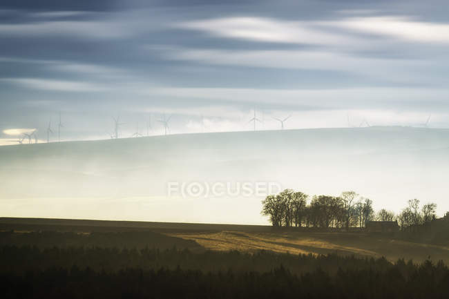 Great Britain, Scotland, East Lothian, Lammermuir HIlls, Crystal Rig Wind Farm — Stock Photo