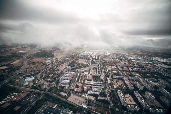España, vista aérea de Madrid - foto de stock