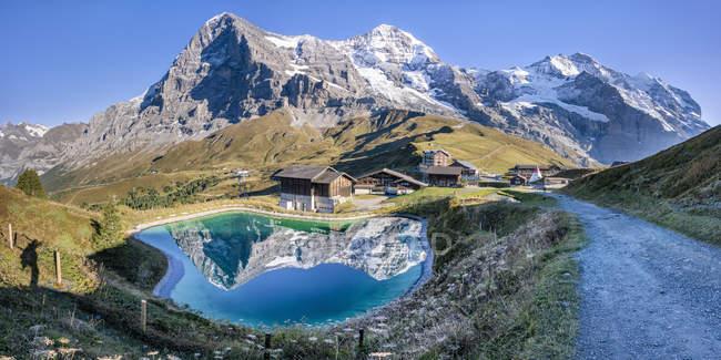 Schweiz, Berner Oberland, Kleine Scheidegg, Eiger, Moench und Jungfrau — Stockfoto