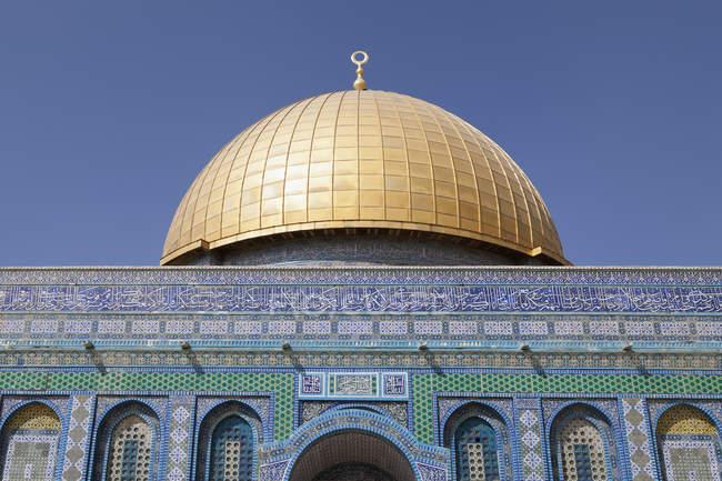 Israel, Jerusalem, abóbada da rocha, cúpula dourada — Fotografia de Stock