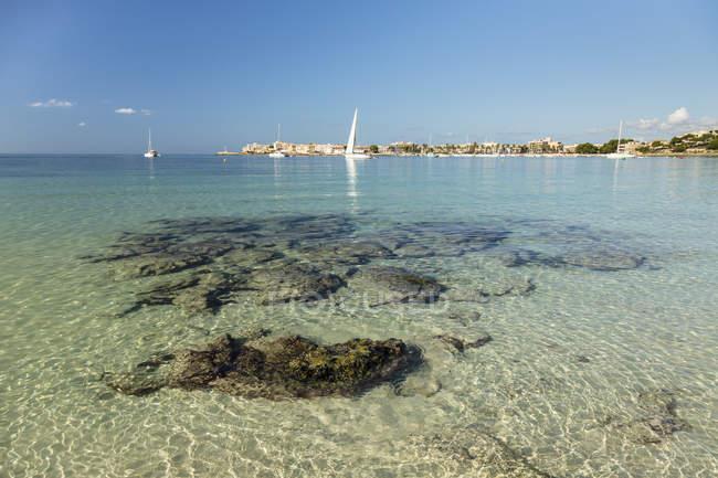 Spagna, Baleari, Ses Salines, Colonia de Sant Jordi, Costa di Platja d'es Dolc — Foto stock