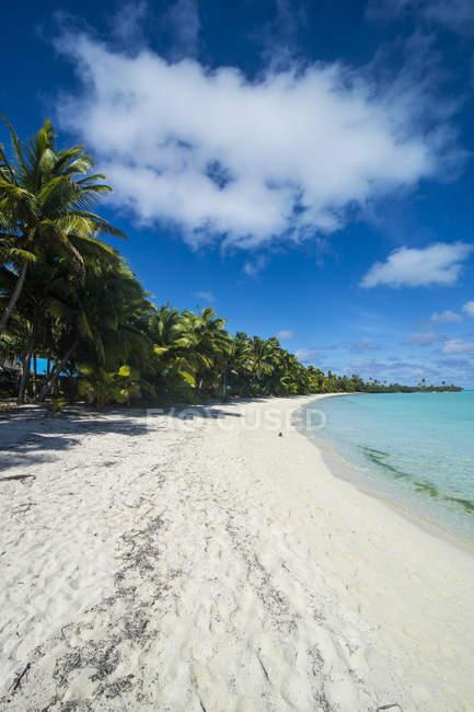 Kochinseln, Rarotonga, Aitutaki-Lagune, Strand — Stockfoto