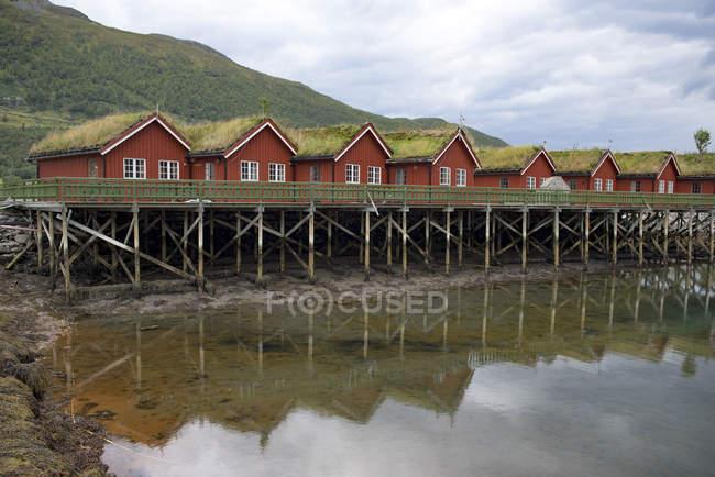 Норвегия, Манндален, праздничные домики — стоковое фото