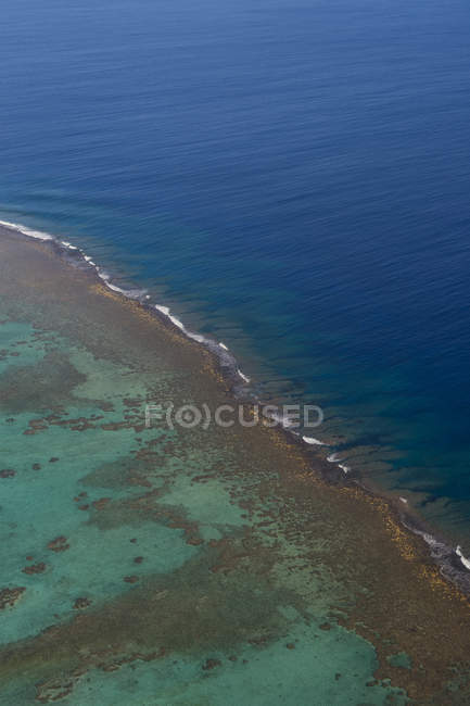 Kochinseln, Luftaufnahme der Aitutaki-Lagune — Stockfoto