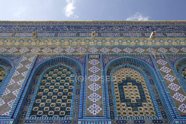 Israel, Jerusalem, abóbada da rocha, mosaico — Fotografia de Stock
