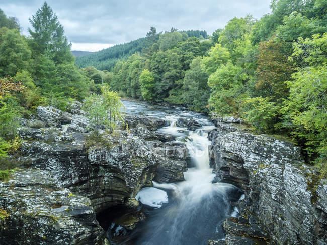 Regno Unito, Scozia, Highland, Invermoriston cascate — Foto stock