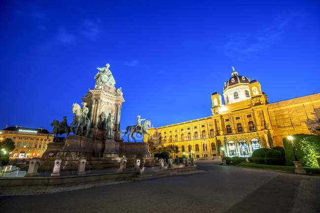 Austria, Vienna, Maria-Theresien-Platz, Museum of Art History and Museum of Natural History — Stock Photo