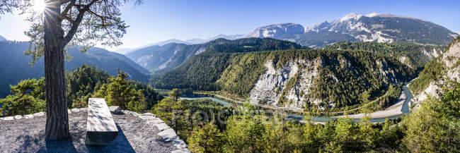 Switzerland, Grisons, Ruinaulta, garganta de Rhine — Fotografia de Stock