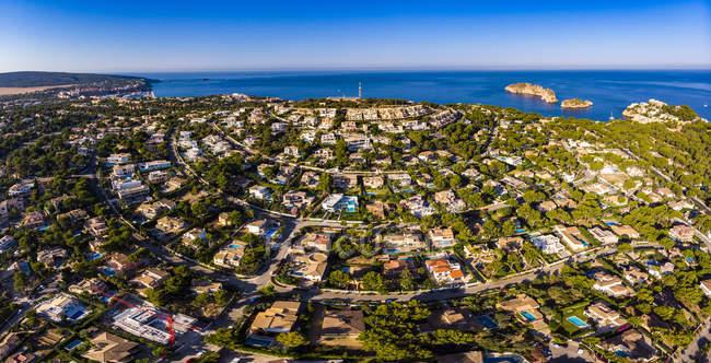 Spagna, Baleari, Maiorca, regione di Calvia, vista aerea di Santa Ponca — Foto stock