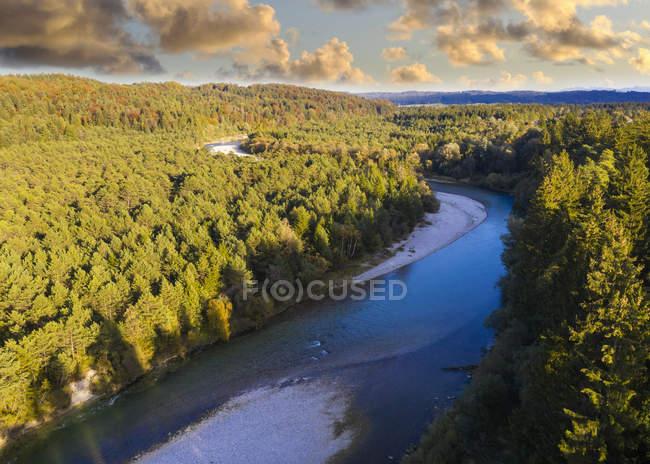 Alemanha, Baviera, Geretsried, Reserva Natural Isarauen, Rio Isar — Fotografia de Stock