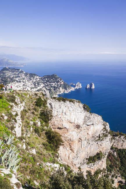 Італія, кампанія, Капрі, повітряна думка — стокове фото
