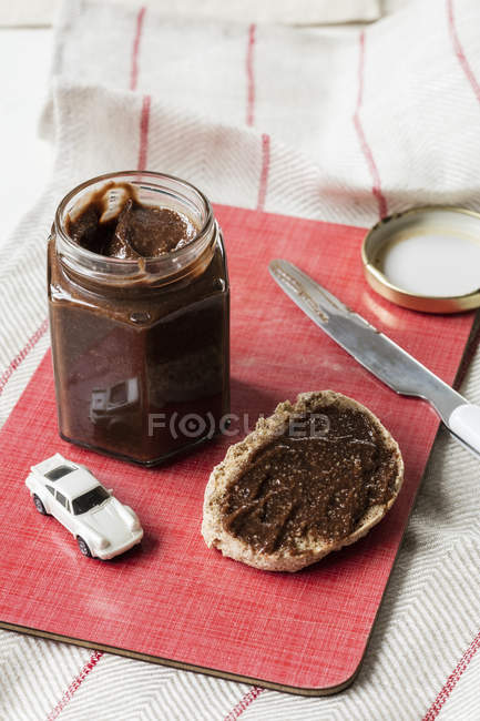 Selfmade Chocolate cashew spread — Stock Photo